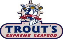 Trout's Supreme Seafood Logo